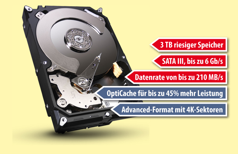 3 TB Desktop-Festplatte Barracuda Seagate ST3000DM001