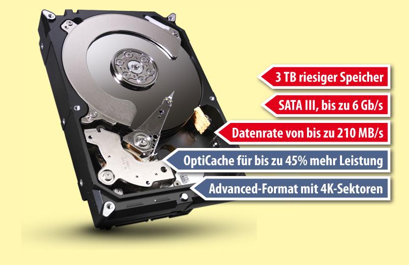 3 TB Desktop-Festplatte Barracuda Seagate ST3000DM001